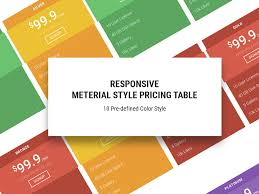 download layout html5 css3 material free responsive pricing table template uicookies