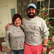 valentines day tacky couples sweatshirts hubby unisex