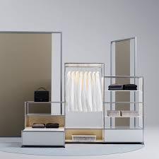 modular walk in wardrobe contemporary metal custom haller