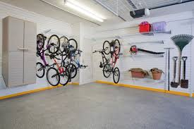 clean basement garage after makeover with white wall painted