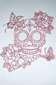 sugar skull design by avengedginge on deviantart