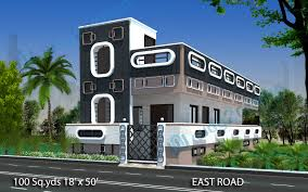 way2nirman 100 sq yds 18x50 sq ft east face house 1bhk elevation