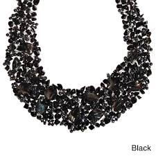 black bead collar necklace images Handmade luscious cluster of nature multistone statement collar jpg