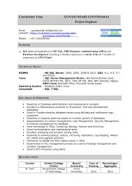 sql server engineer resume