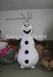 olaf costume high quality frozen olaf mascot costume snowman mascot costume