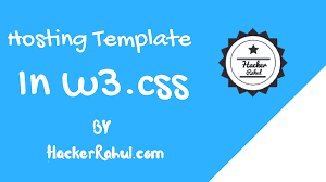best hosting template in w3 css