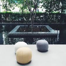 stevig round knitted pouf ottoman shoppy