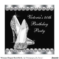 Black Invitation Card Elegantes Schwarzes Der Geburtstags Party Der Frau Quadratische 13