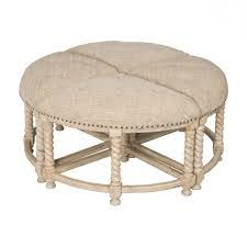 coffee table astonishing round upholstered ottoman coffee table
