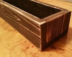 hand made rustic flower box centerpiece 30