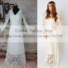 online shop best selling real sample bohemian wedding dresses with