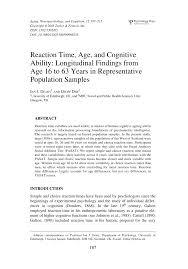 reaction time age and cognitive ability longitudinal findings