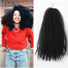 Curly Hair Extensions For Braiding by Zazeal Hair Crochet Braids Marley Braid Afro Twist Synthetic