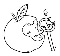Coloriage la pomme  Jeux et outils  Fondation OLO
