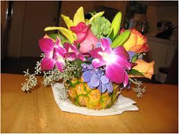Pineapple Decoration Ideas Backyards Impressive Flowers Pineapple Centerpiece For Hawaiian
