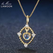 fashion pendant necklace images Lamoon fashion long pendants necklaces 925 sterling silver pendant jpg