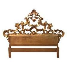 Antique Headboards King Fancy Vintage Carved Wood Rococo Style Hollywood Regency King Size