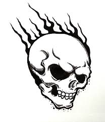flaming skull by horribleblack on deviantart
