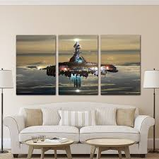 star wars living room wall art pictures home decor for living room poster 3 pieces star