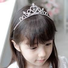 harga hair clip kids flower girl children wedding prom tiara crown headband kid