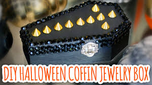 halloween jewelry crafts diy coffin jewelry box halloween 2014 youtube
