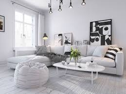 100 scandinavian livingroom interior fur area rug in serene
