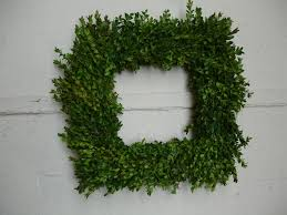 exterior design square boxwood wreath for decor christmas greenery