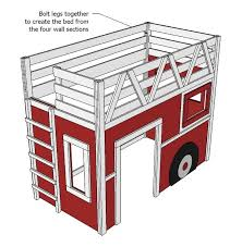 16 best projects images on pinterest fire truck beds 3 4 beds
