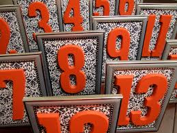 silver frames for wedding table numbers silver black white damask wedding table numbers