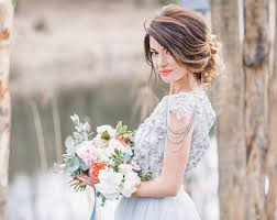 white and grey wedding dress grey wedding dress etsy