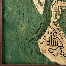 Siesta Key Florida Map by Lido Key U0026 Siesta Key 3d Nautical Topographic Chart Framed Art