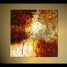 original abstract modern landscape made landscape blooming trees painting original abstract modern