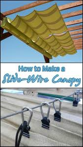 Homemade Deck Awning Add Extra Shade To Your Outdoor Area By Making A Slide Wire Canopy