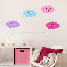 compare prices on wall stickers baby rooms online shopping buy cute colorful cloud vinyl wall sticker diy removable baby room cartoon decor various color selection