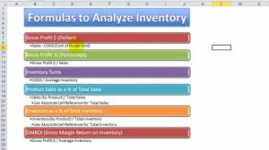 how to use excel functions u0026 formulas to analyze inventory for a