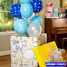 send birthday balloons in a box send balloon box online by giftjaipur in rajasthan