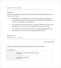 Free Business Plan Template Nz simple business plan template 11 free word excel pdf format