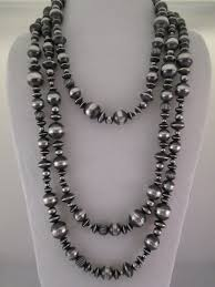 sterling silver necklace beads images Oxidized sterling silver necklace navajo multi shaped beads jpg