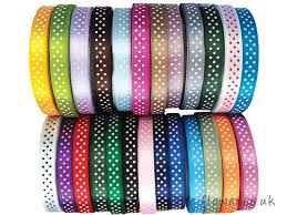 polka dot ribbon pretty polka dot ribbon on special offer at meiflower crafts
