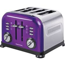 Morphy Richards Accent Toaster Chic Morphy Richards 4 Slice Accents Toaster Purple With