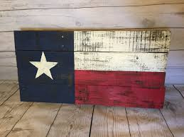 Texaa Flag Texas Flag Pallet Sign Texas Heritage Recycled Pallet Flag