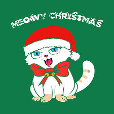 meowy christmas cat meowy christmas and a happy new year meowy christmas cat