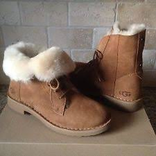 womens ugg boots size 9 uk ugg quincy black suede sheepskin lace up ankle womens boots size