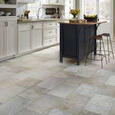 Ideas For Kitchen Floors Resilient Natural Stone Vinyl Floor Upscale Rectangular Large