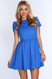 blue short dresses casual other dresses dressesss