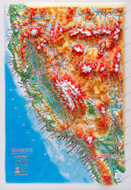 Relief Map Of Usa by 3d Relief Panoramic Map California In A4 Size 3d Usa Us States
