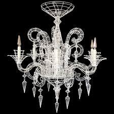 Cage Chandelier Lighting Viyet Designer Furniture Lighting Vintage White Wirework