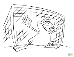 soccer goalie frog coloring page free printable coloring pages