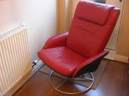 attractive red leather reclining chair with red leather recliner
