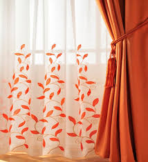 Sheer Curtains Orange See Orange Can Be Pretty And Color Orange Home